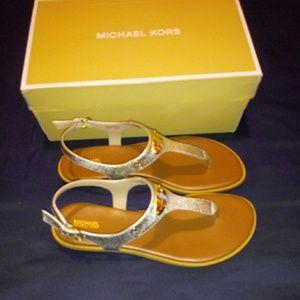 Michael Kors MK Plate Thong Sandal